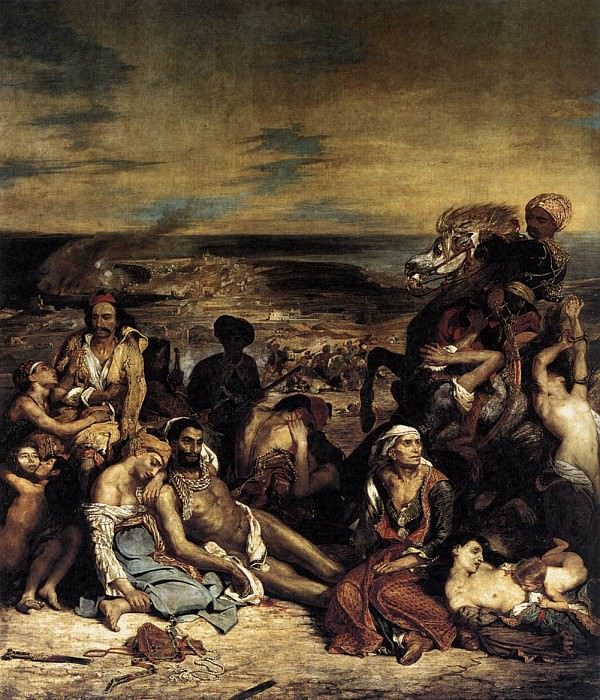 The Massacre at Chios. Ferdinand Victor Eugène Delacroix