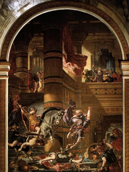 DELACROIX Eugene Heliodoros Driven from the Temple. Ferdinand Victor Eugène Delacroix