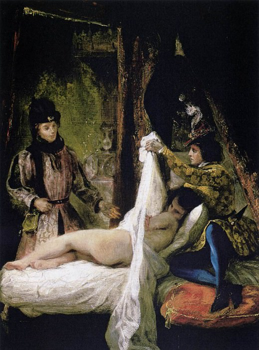 Louis d- Orleans Showing His Mistress. Ferdinand Victor Eugène Delacroix