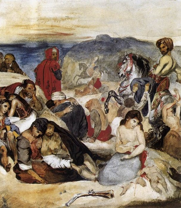 The Massacre of Chios. Ferdinand Victor Eugène Delacroix