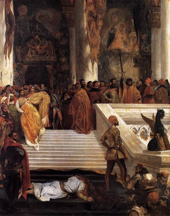 The Execution Doge Marino Faliero. Ferdinand Victor Eugène Delacroix