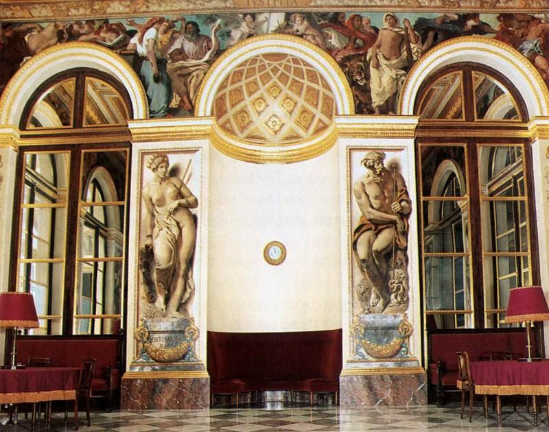 DELACROIX Eugene Decoration of the west wall. Ferdinand Victor Eugène Delacroix