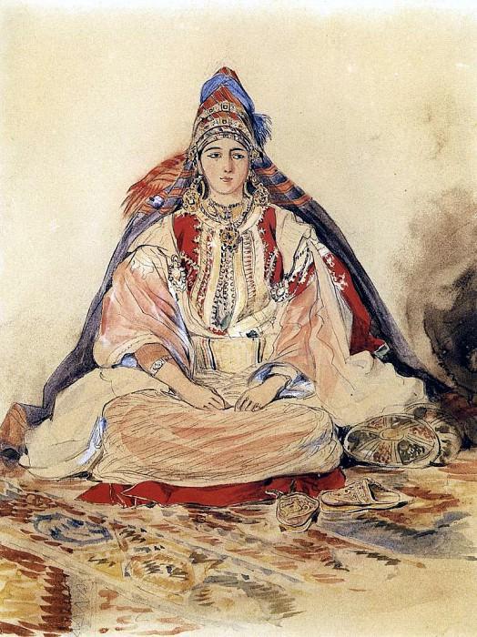 DELACROIX Eugene Jewish Bride. Ferdinand Victor Eugène Delacroix