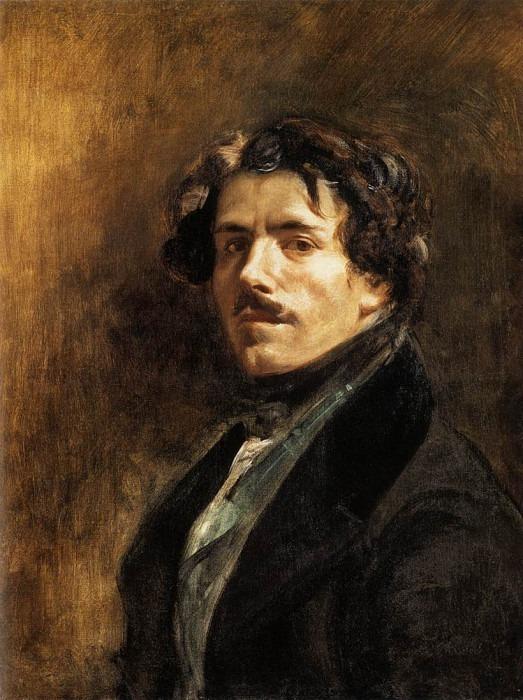 DELACROIX Eugene Self Portrait. Ferdinand Victor Eugène Delacroix