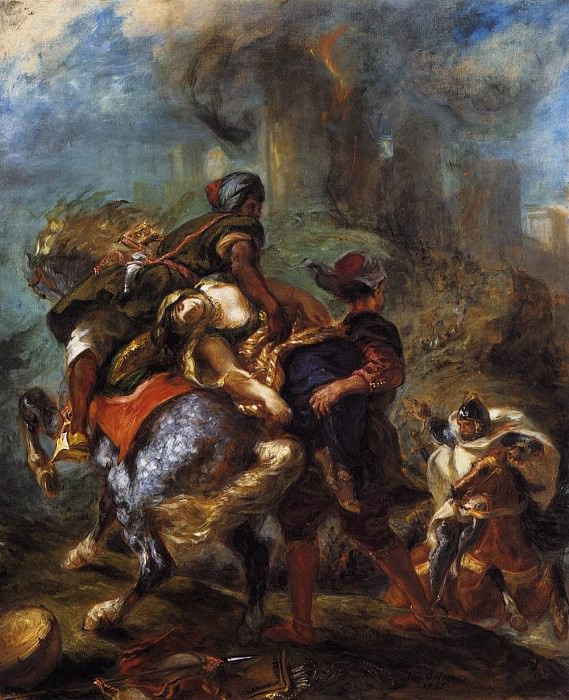 DELACROIX Eugene The Abduction of Rebecca. Ferdinand Victor Eugène Delacroix