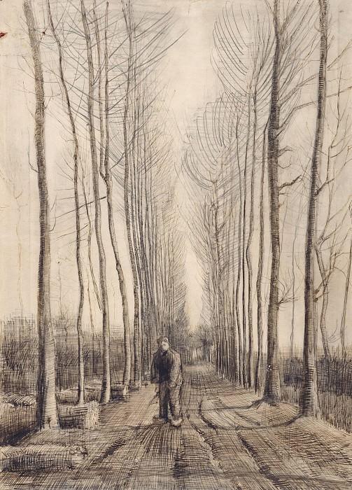 Avenue of Poplars. Vincent van Gogh
