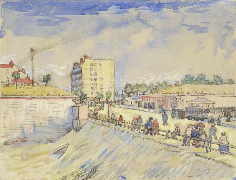 Gate in the Paris Ramparts. Vincent van Gogh