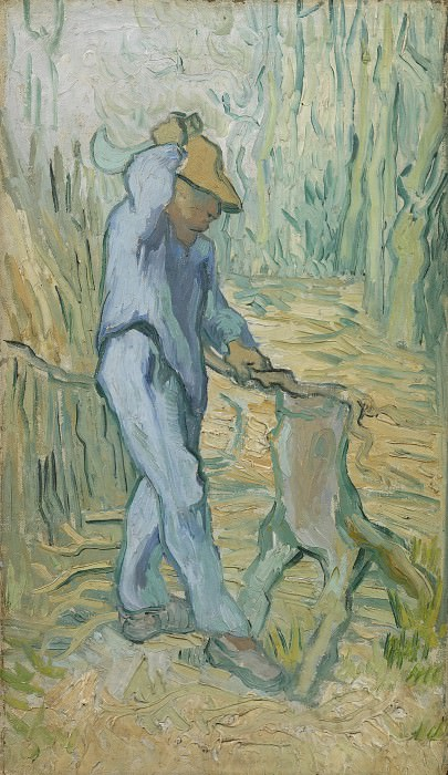 The Woodcutter (after Millet). Vincent van Gogh