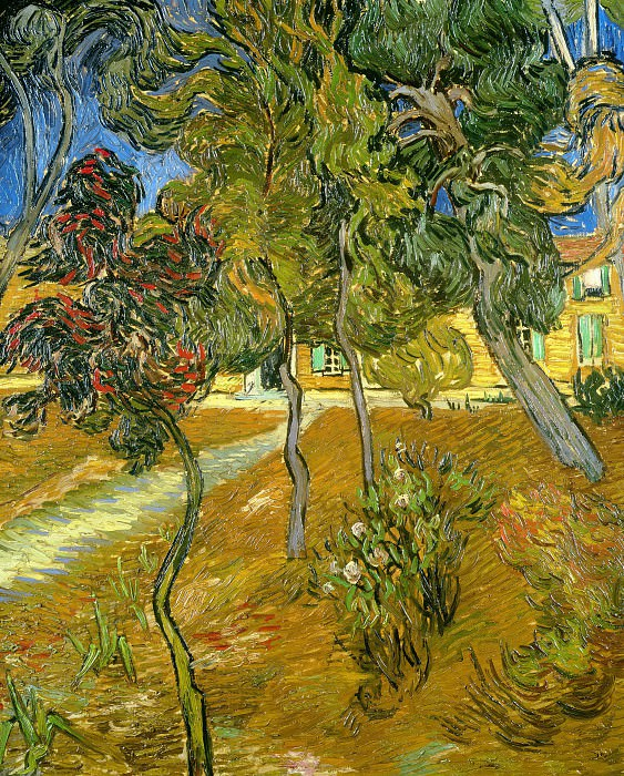 Trees in the Garden of Saint-Paul Hospital. Vincent van Gogh