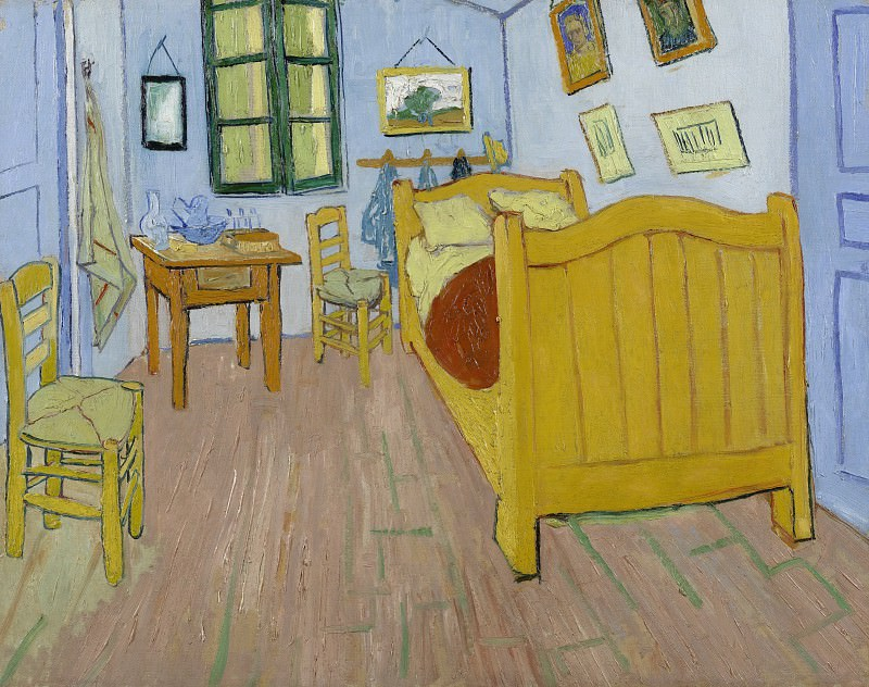 Vincents Bedroom in Arles. Vincent van Gogh