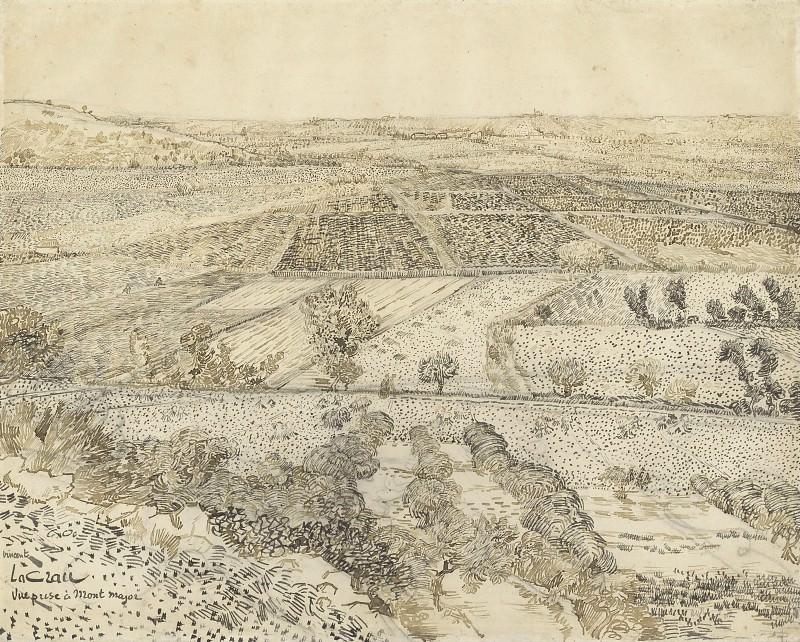 La Crau Seen from Montmajour, 1888. jpeg. Vincent van Gogh