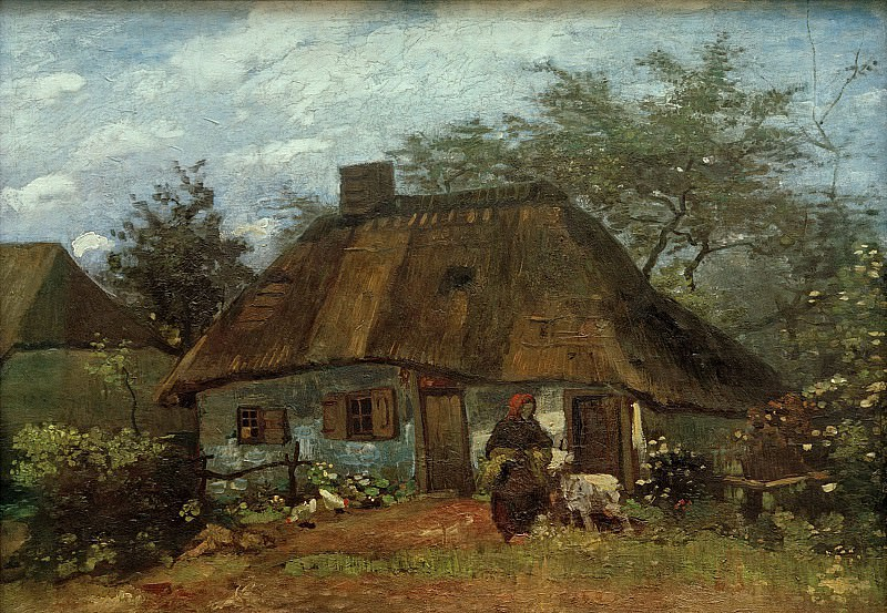 Cottage and Woman with Goat. Vincent van Gogh