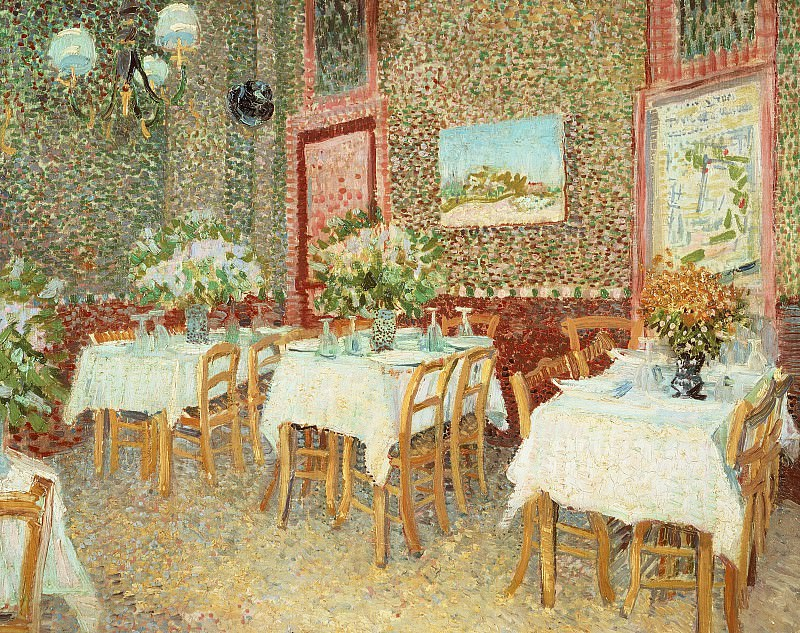 Interior of a Restaurant. Vincent van Gogh