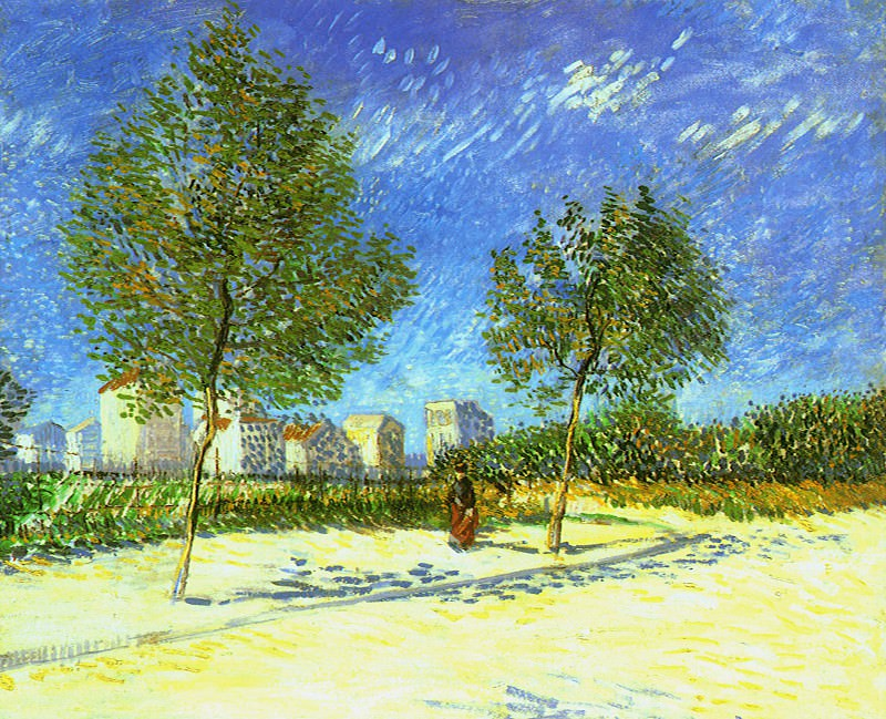 On the Outskirts of Paris. Vincent van Gogh