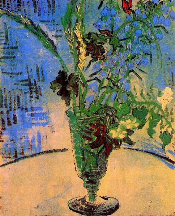 Glass with Wild Flowers. Vincent van Gogh