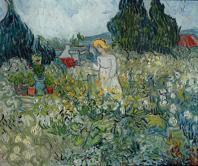 Marguerite Gachet in the Garden. Vincent van Gogh