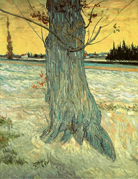 Trunk of an Old Yew Tree. Vincent van Gogh