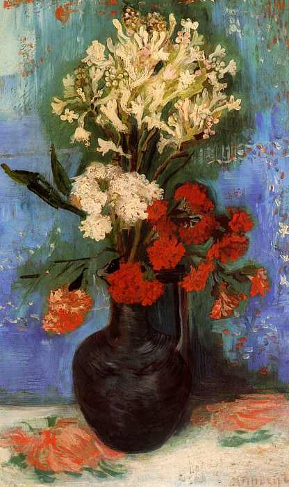 Vase with Carnations and Other Flowers. Vincent van Gogh