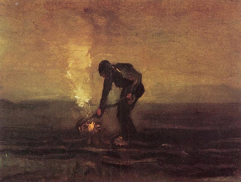 Peasant Burning Weeds. Vincent van Gogh