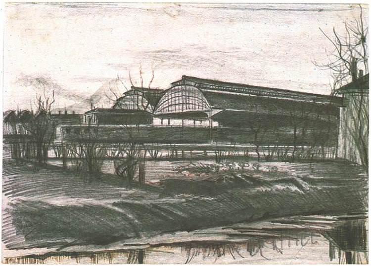 Железнодорожная станция. Винсент Ван Гог
