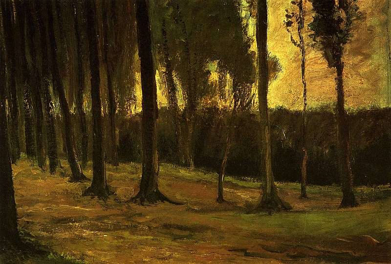 Edge of a Wood. Vincent van Gogh