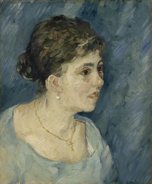 Portrait of Woman in Blue. Vincent van Gogh
