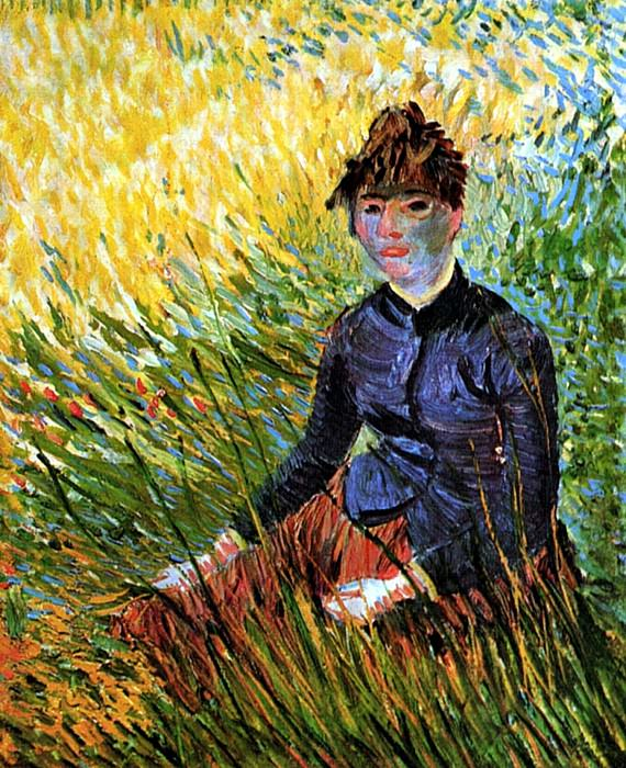 Woman Sitting in the Grass. Vincent van Gogh
