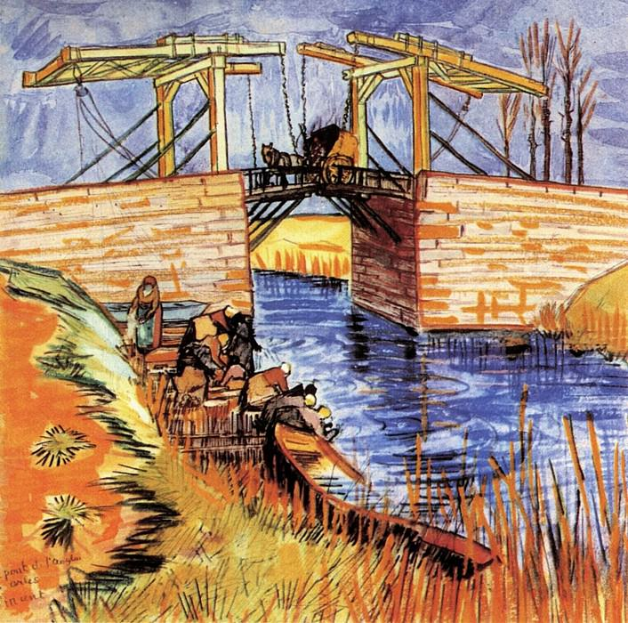 Мост Ланглуа в Арле. Винсент Ван Гог