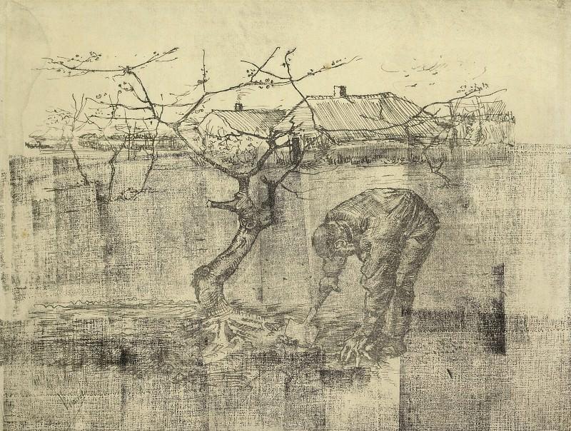 Gardener near an Apple Tree. Vincent van Gogh