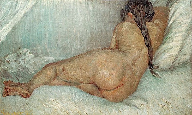 Nude Woman Reclining, Seen from the Back. Vincent van Gogh