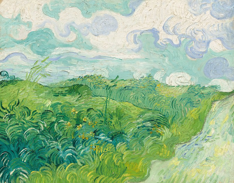 Green Wheat Fields. Vincent van Gogh