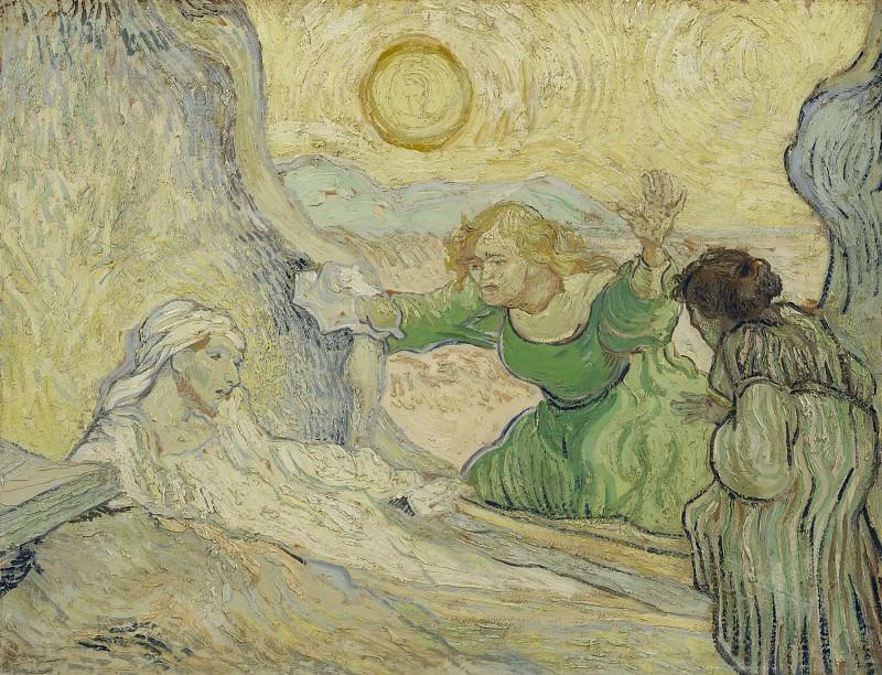 The Raising of Lazarus (after Rembrandt). Vincent van Gogh