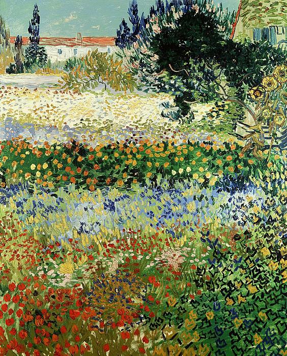 Flowering Garden. Vincent van Gogh