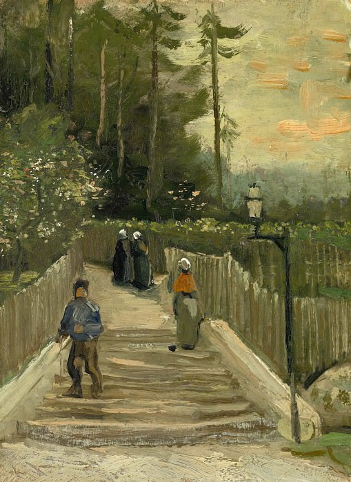 Sloping Path in Montmartre. Vincent van Gogh