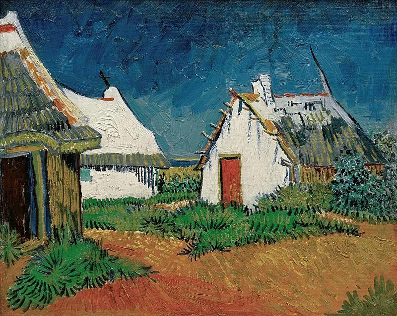 White Cottages in Saintes-Maries. Vincent van Gogh