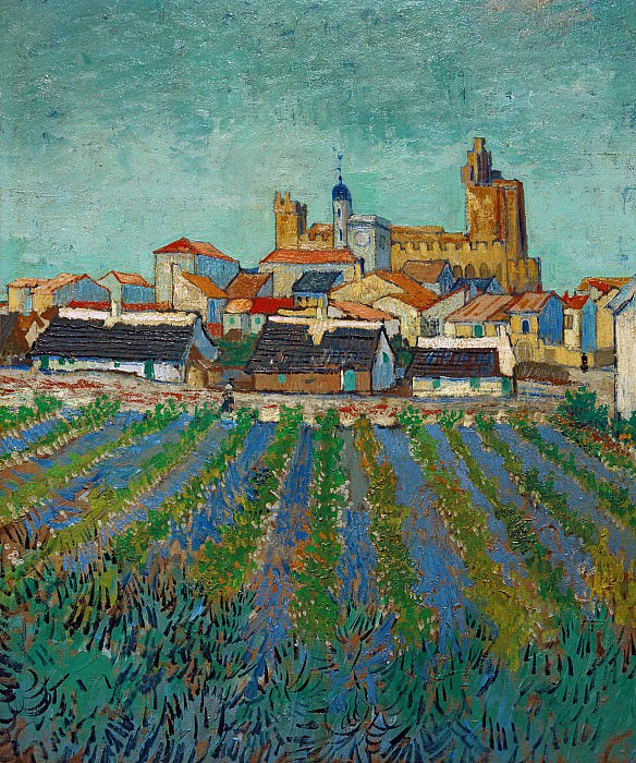 View of Saintes-Maries. Vincent van Gogh
