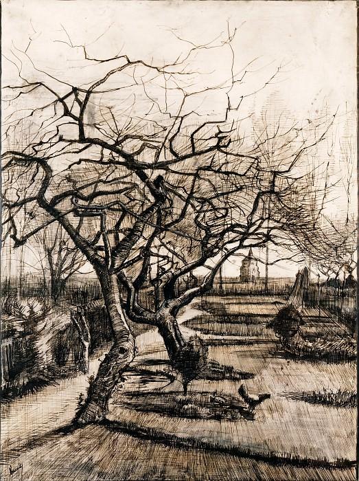 The Parsonage Garden at Nuenen in Winter. Vincent van Gogh