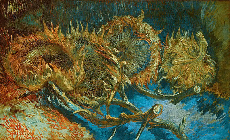 Still Life with Four Sunflowers. Vincent van Gogh