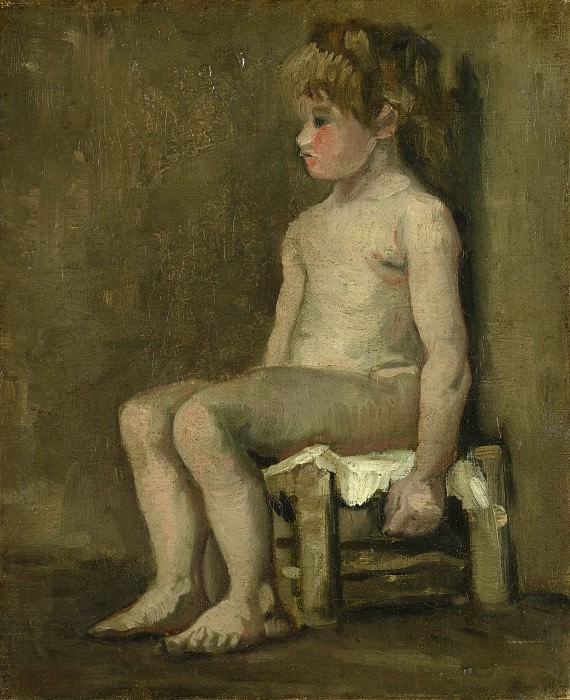 Nude Girl Seated. Vincent van Gogh