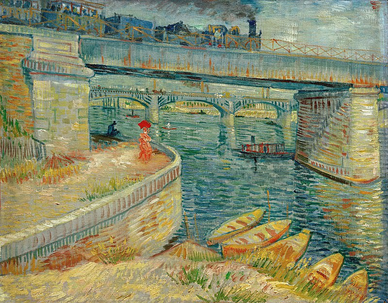 Bridges across the Seine at Asnieres. Vincent van Gogh