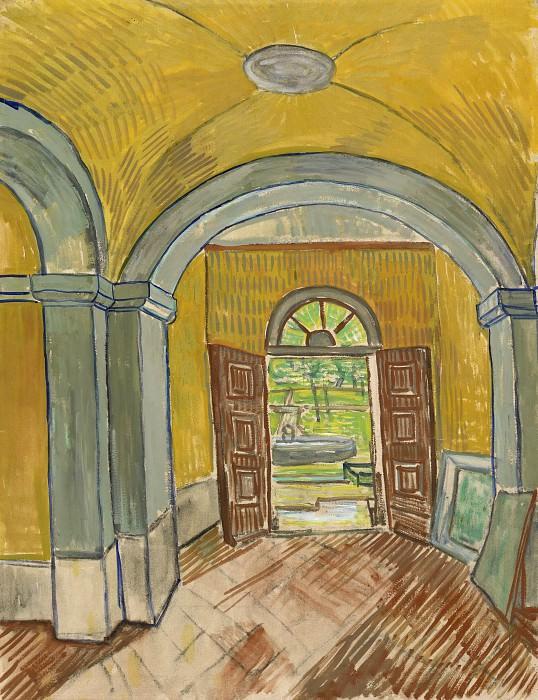 Vestibule in the Asylum. Vincent van Gogh