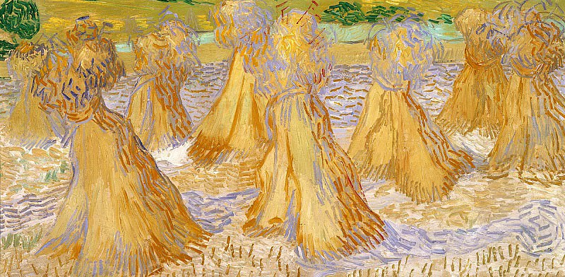 Field with Stacks of Wheat. Vincent van Gogh