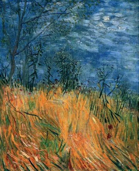 Edge of a Wheatfield with Poppies. Vincent van Gogh