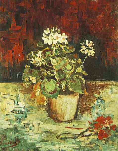 Geranium in a Flowerpot. Vincent van Gogh