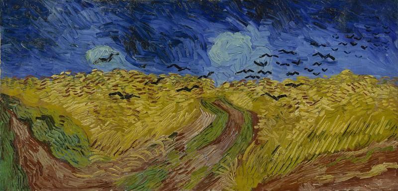 Wheat Field Under Threatening Skies. Vincent van Gogh