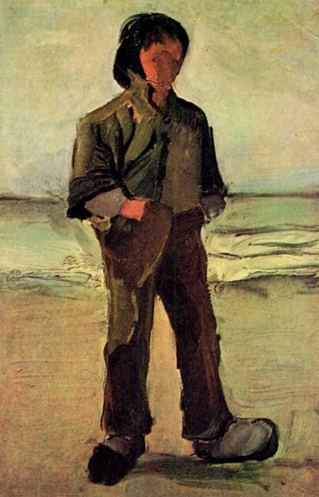 Fisherman on the Beach. Vincent van Gogh