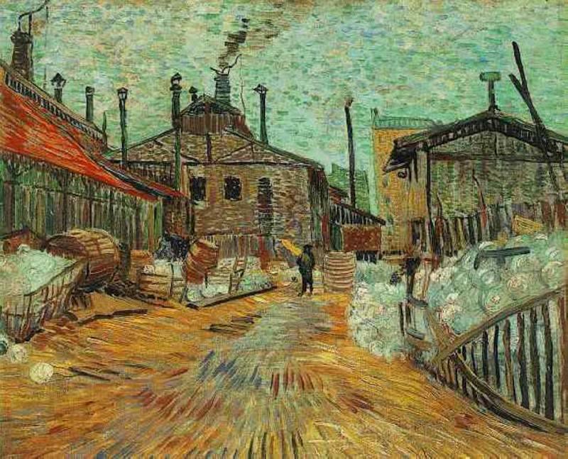 The Factory at Asnieres. Vincent van Gogh