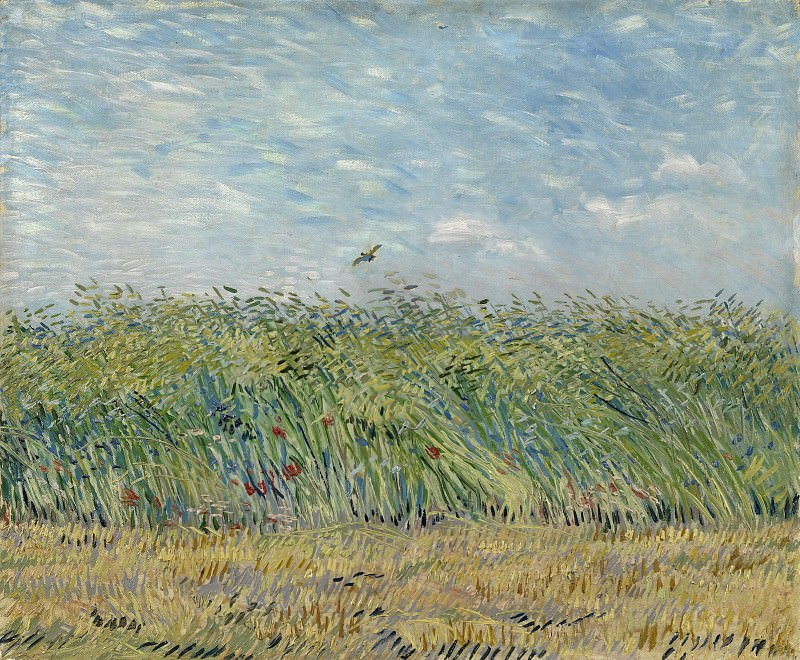 Wheat Field with a Lark. Vincent van Gogh