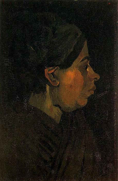 Head of a Peasant Woman with Dark Cap. Vincent van Gogh