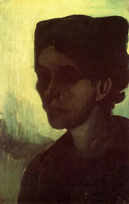 Head of a Young Peasant Woman with Dark Cap. Vincent van Gogh
